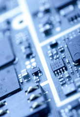 Close-up photo of mainboard