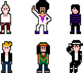 Pixel people- musicians