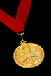 Gold victory medal