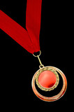 Medal with red ribbon