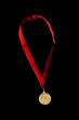 Isolated gold medal
