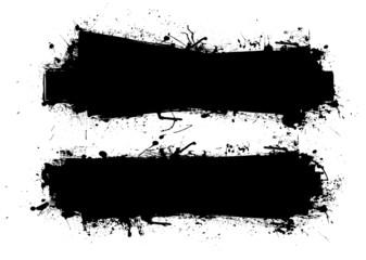 grunge ink banner black