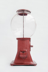 Warenautomat Kaugummiautomat in rot um 1930 bis 1950