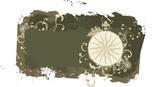 Grunge vector vintage travel frame with wind rose poster
