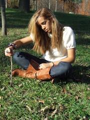 jovem no parque