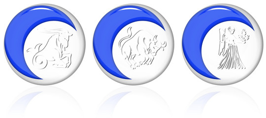 Buttons zodiac earth