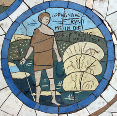 David, mosaic, Mount of Beatitudes