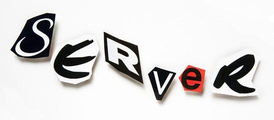 server réseau mot concept découpage