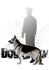 alsatian dog background