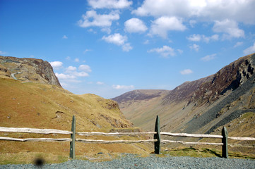Fence at Honister Pass
