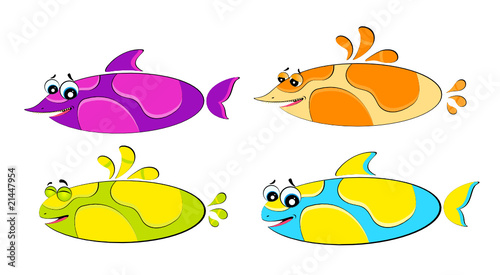 little colorful tropical fish
