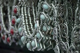 Turkey, Istanbul, Grand Bazaar, turkish silver necklaces poster