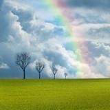 climat changement climatique campagne météo arc ciel poster