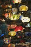 Turkey, Istanbul, Grand Bazaar, handmade turkish lanterns poster