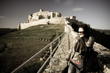 Woman and castle