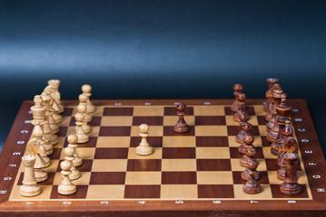 Szachownica z szachami obrona sycylijska