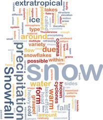 Snow precipitation background concept