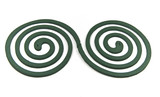Two spiral (mosquito coil) on white background poster