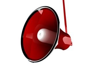 Red speaker megaphone