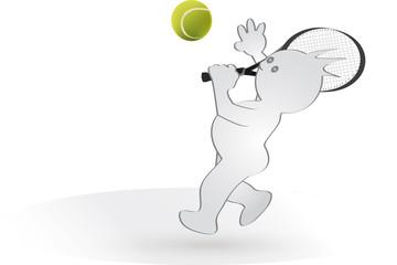 Grafix spielt Tennis