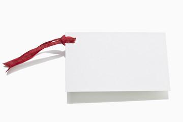 weiße Glückwunschkarte