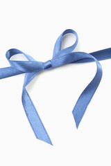 blaues Geschenkband