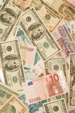 Dollars, euros, russian roubles - Money poster