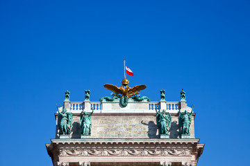 Detail of Imperial Palace in Vienna