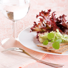 Fresh green salad.