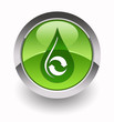 ''Eco water drop / Oil recycling'' glossy icon