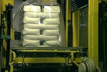Pallet Wrapping and Hooding Machine