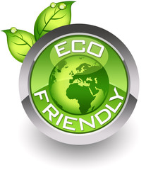 ''Eco-friendly'' glossy icon
