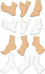 Set of feet