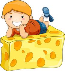 Boy on Cheese