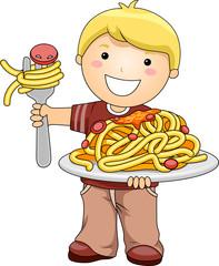 Boy with Spaghetti