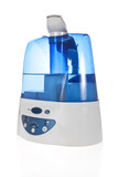 Humidifier with ionic air purifier isolated on white background poster