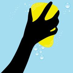 cleaning sponge illustration