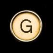 Typewriter letter G