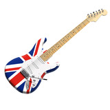 UK flag 3d guitar