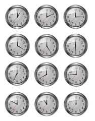 douze horloges