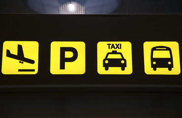 Airport Transportation Services Sign