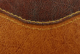 Fototapety brown leather with seam texture