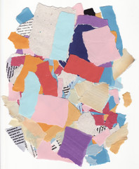 Torn paper composition