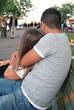 Liebes Paar im Park.