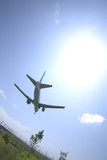 Fototapety Sun and Airplane