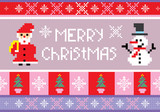 christmas embroidery seamless background poster