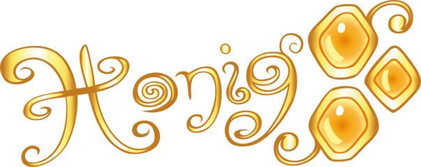 Honig, Imker, Biene, Logo, Icon, design element