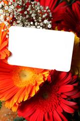 biglietto di auguri su fiori