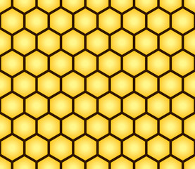 Abstract seamless pattern of honeycomb form