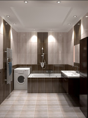 Modern interior of bathroom